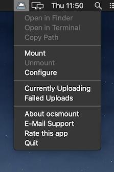 WebDAV cloud storage in macOS Finder with ocsmount (ownCloud